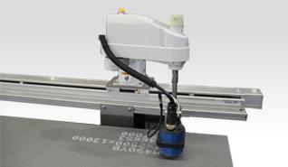 自動鋼板印字装置(スカラロボット型)